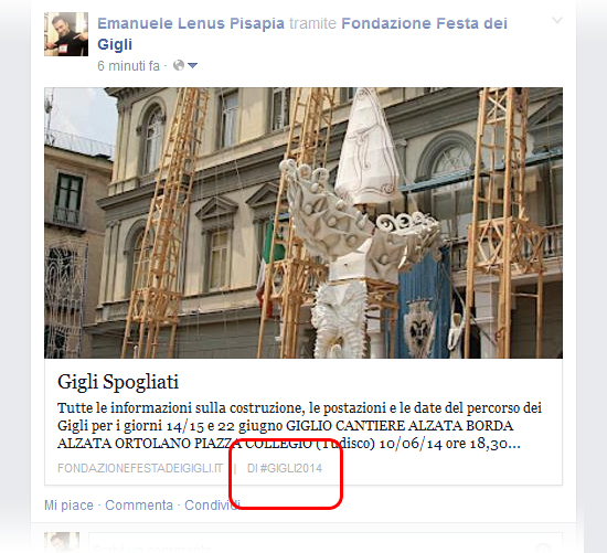 Come far apparire l'autore ai link condivisi su Facebook